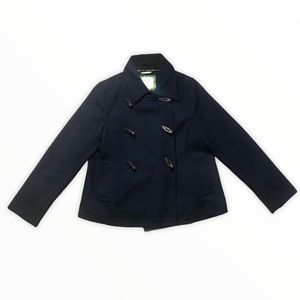 Old Navy Wool Toggle Peacoat - Navy